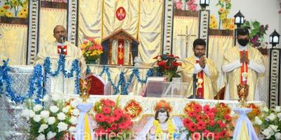 Feast of Infant Jesus Celebrated at Alangar Infant Jesus Shrine