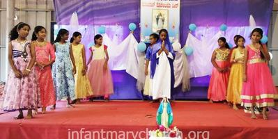 Girls' Marian Sodality feast celebration